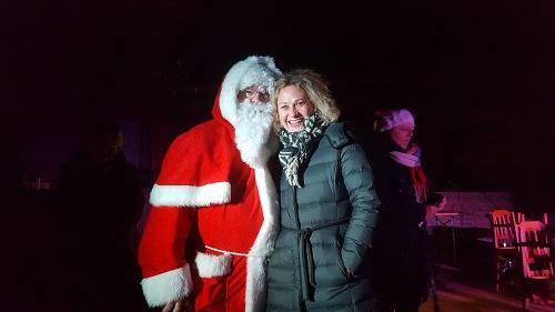 Der Weihnachtsmann holte persönlich die Wunschzettel ab.